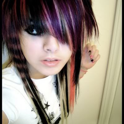 Color Emo Hairstyles