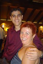 Mi mama y Rubén.