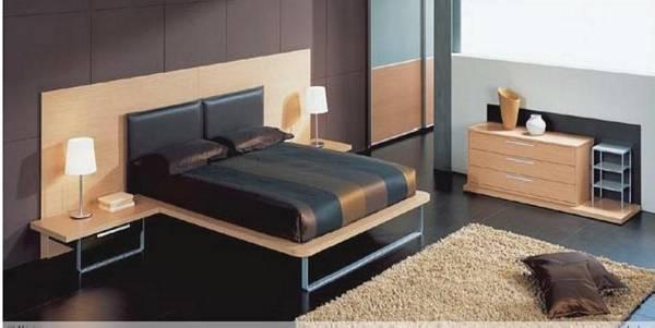 Dormitorio en colores oscuros
