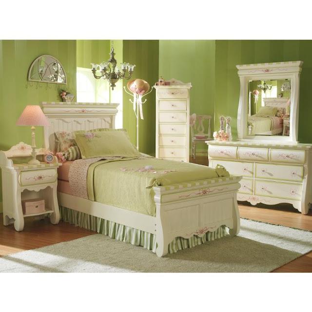 Decoracion Habitaciones Ni?as ~ Este precioso dormitorio verde manzana , tiene un estilo rom?ntico y