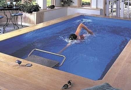 Endless pool piscina contra corriente piscina para nadar for Piscinas en poco espacio