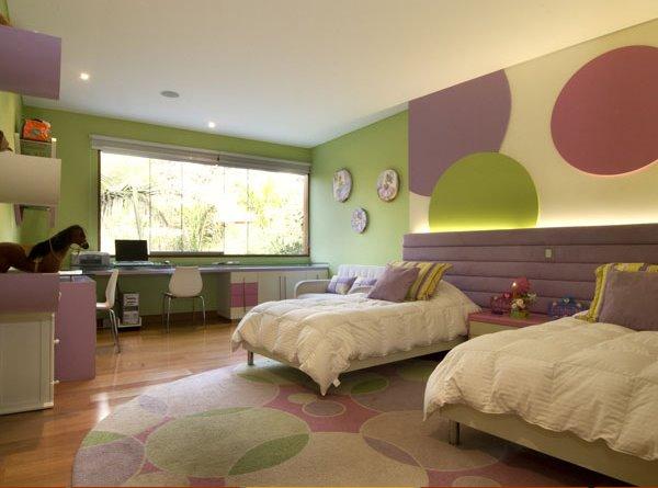 El dormitorio para las ni as y adolescentes verde manzana - Decoracion pared dormitorio ...