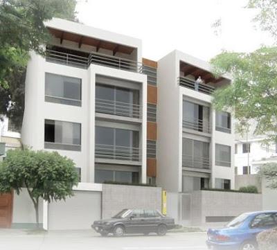 fotos de fachadas de edificios de 4 y 5 pisos para