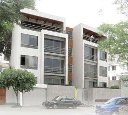 Fotos de fachadas de edificios de 4 y 5 pisos para for Departamentos pequenos minimalistas