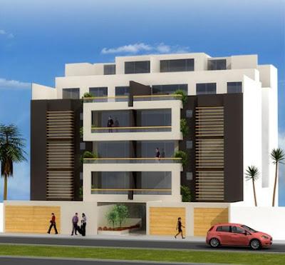 Fotos de fachadas de edificios de 4 y 5 pisos para for Pisos para casas minimalistas