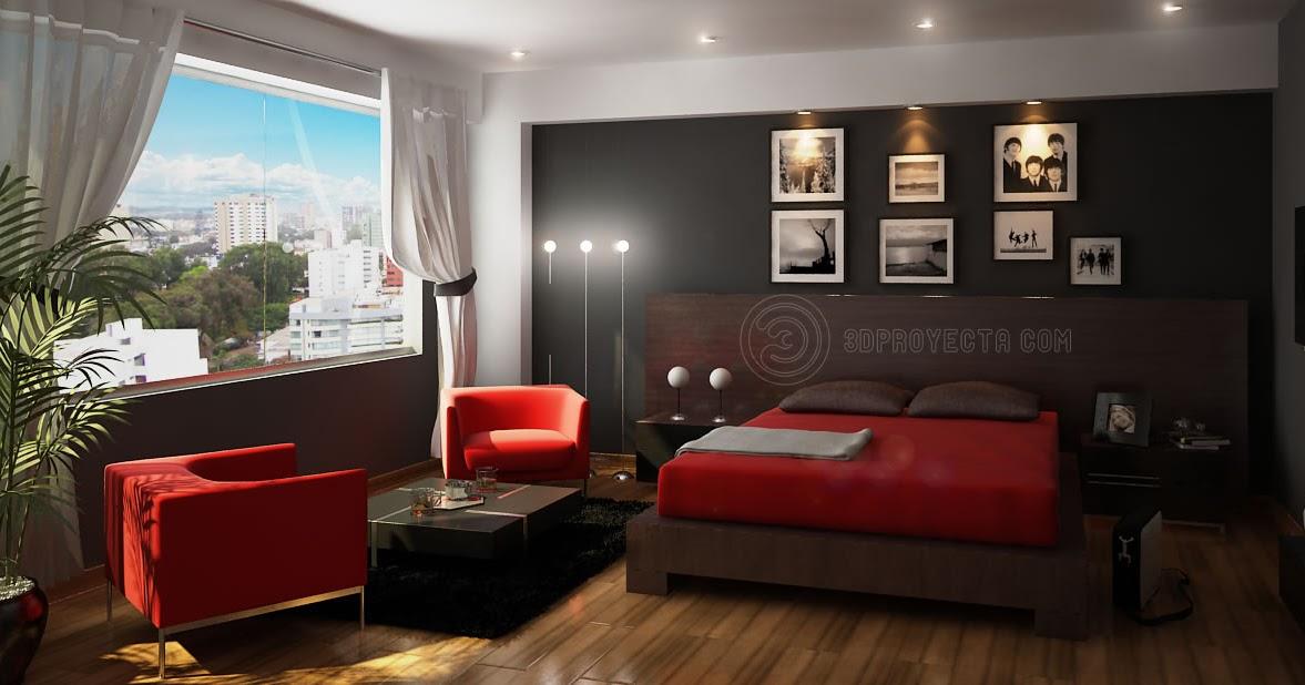 Decoracion dise o elegante dormitorio principal hecho en - Dormitorio principal ...