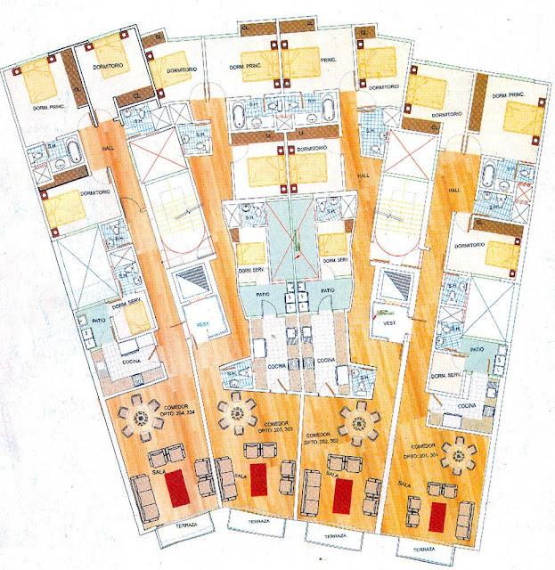Planos de edificio de departamentos planos de casas for Planos de departamentos de 40m2
