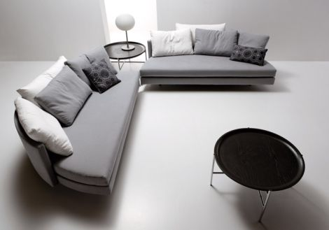 Cama redonda Scoop bed via www.dormitorios.blogspot.com