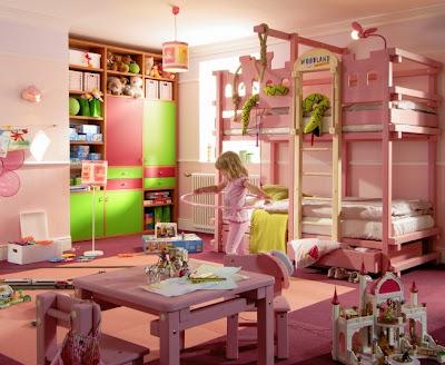 Dormitorios elevados para niñas - Camas altas