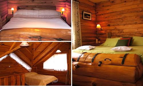 Hermoso dormitorio rustico al estilo de una cabaÑa : dormitorios