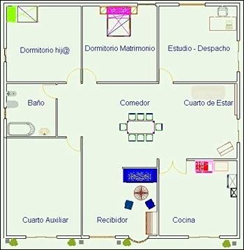Planos de casas gratis y departamentos en venta plano de - Estudiar feng shui ...