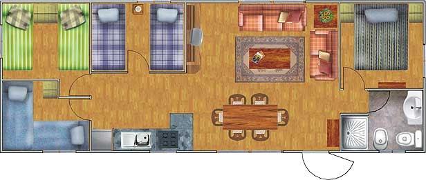 Planos de casas de 52 60m2 con 3 dormitorios planos de for Planos de habitaciones