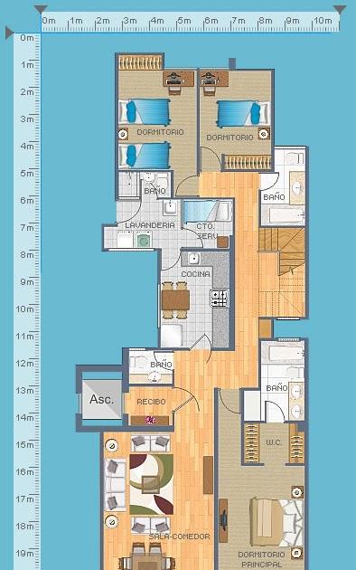 Planos de casas gratis y departamentos en venta planos de for Planos de cocina y lavanderia