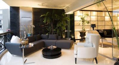Designs omah ideas sala y comedor de lujo en blanco y for Marmol traslucido