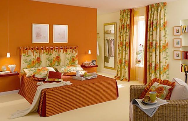 DORMITORIO NARANJA ORANGE BEDROOMS ORANGE DORMS by dormitorios.blogspot.com