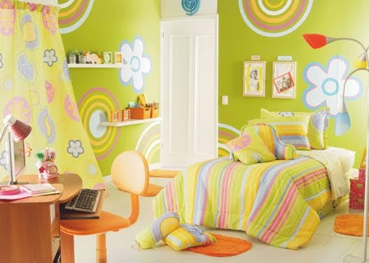 DORMITORIO VERDE MANZANA PARA NIÑA  DORMITORIOS decorar dormitorios fotos de habitaciones recámaras diseño y decoración