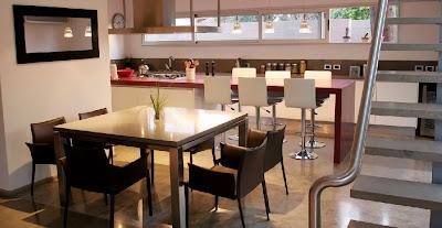 Sala que intregra el jardin y comedor de diario salas y for Comedor de diario