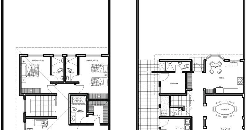 Planos de casa colonial de 2 plantas 240m2 planos de for Paginas para hacer planos de casas gratis
