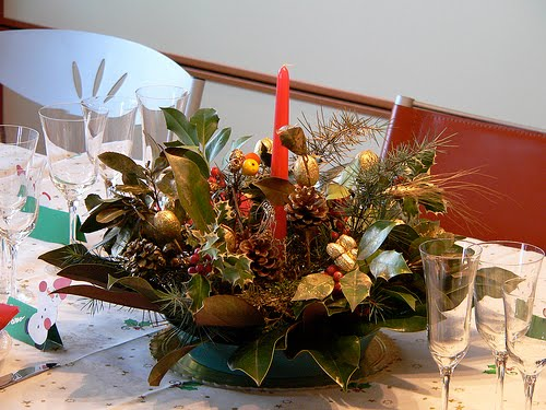 Centros de mesa navidenos salas y comedores decoracion - Centros navidenos caseros ...