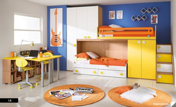 Dormitorios fotos de dormitorios - Space saving ideas for small kids bedrooms plan ...