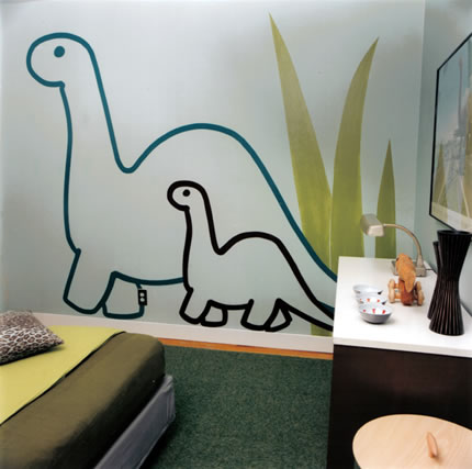 Queen of tattoo decoracion de dinosaurios para dormitorio - Vinilos para dormitorios infantiles ...