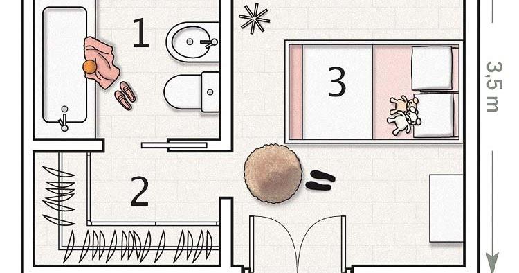 Planos dormitorios for Planos de habitaciones
