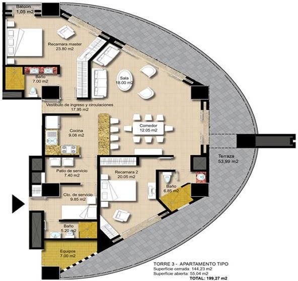 Planos de casas gratis y departamentos en venta plano en for Departamentos en planos