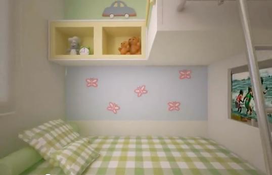 DORMITORIO EN COLORES PASTEL CON LITERA INFANTIL