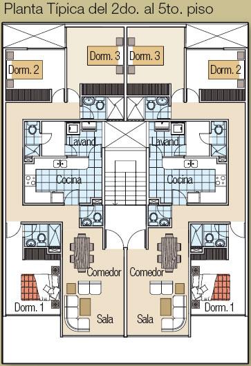 Planos de casas gratis y departamentos en venta plano Departamentos de dos pisos