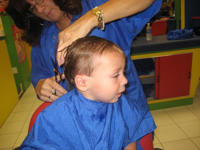 Matty's first hair cut