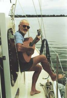 Alan Lucas aboard Soleares II