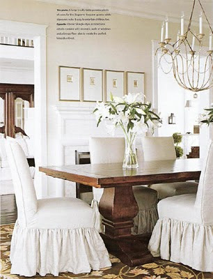 Shorely Chic: Slip Covered Dining Chairs