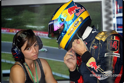 Sebastien Bourdais and wife Claire
