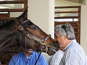 Rachel Alexandra with trainer Steve Asmussen