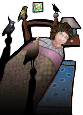 alfanhui en su cama