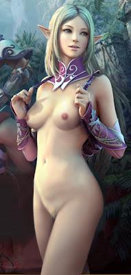 Lineage Nude Elf, Ecchi CG