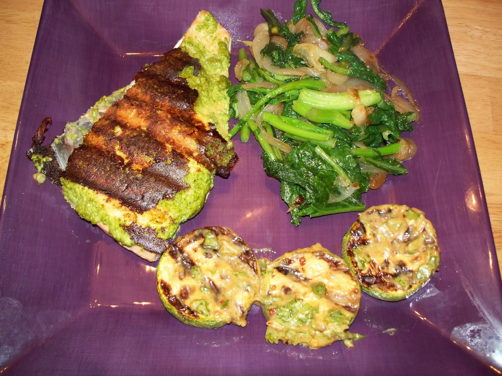 ... Sides – Grilled Lita, Broccoli Rabe with Caramelized Onions, Salad