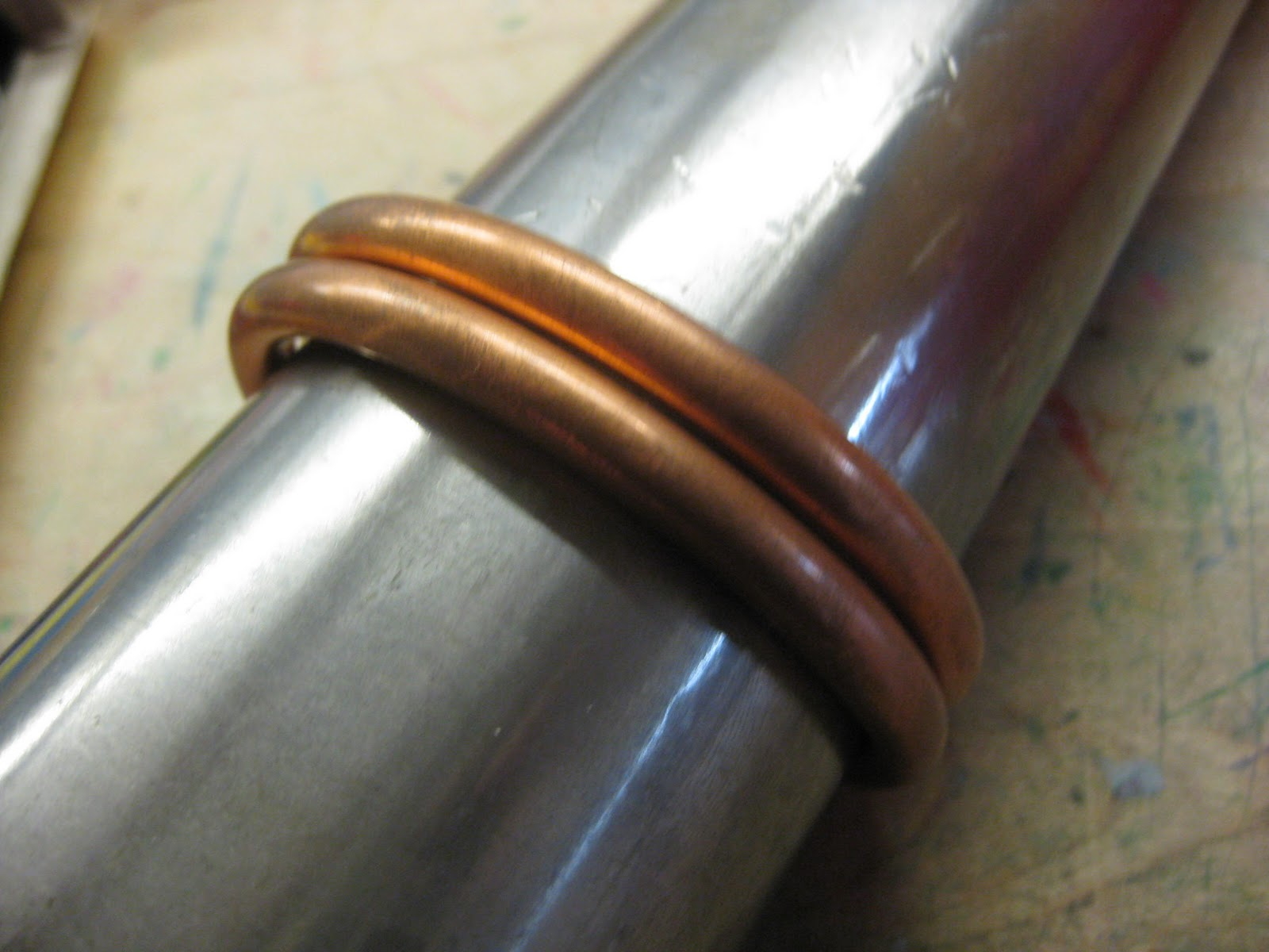 New jewelry a day make bangle bracelet from copper pipe