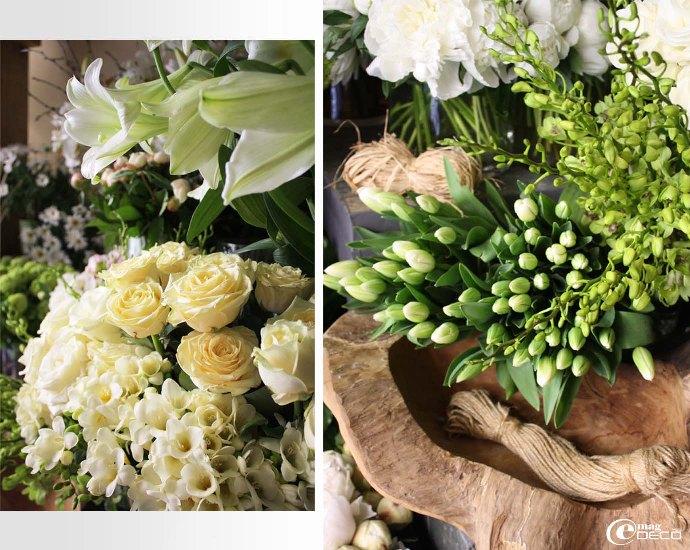 Bottes de fleurs chez le fleuriste