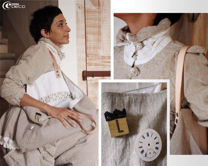 Déborah présente la collection Printemps 2010 de Mandarinbillie et le sac en li Melosa