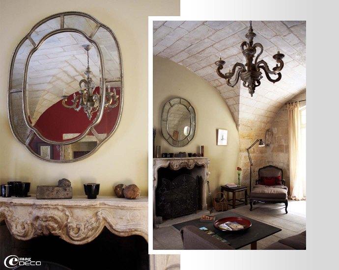 Le salon voûté de la maison d'hôtes L'Albiousse