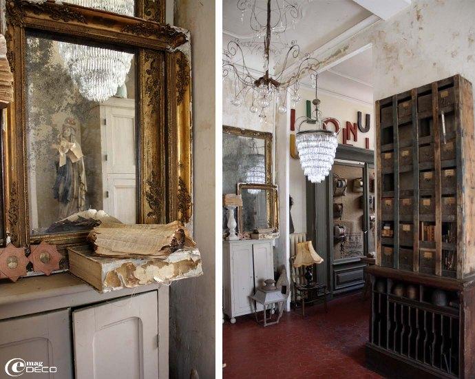 Miroirs piqué dans le hall d'entrée de l'atelier-showroom de « Vox Populi »