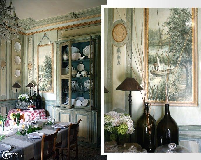 Table dressée pour les convives de la maison d'hôtes Château de Christin dans le Gard