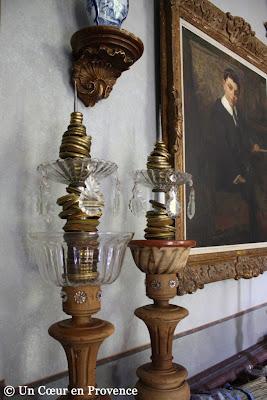 Piques cierge créations de Richard Goulet pour le château de Christin