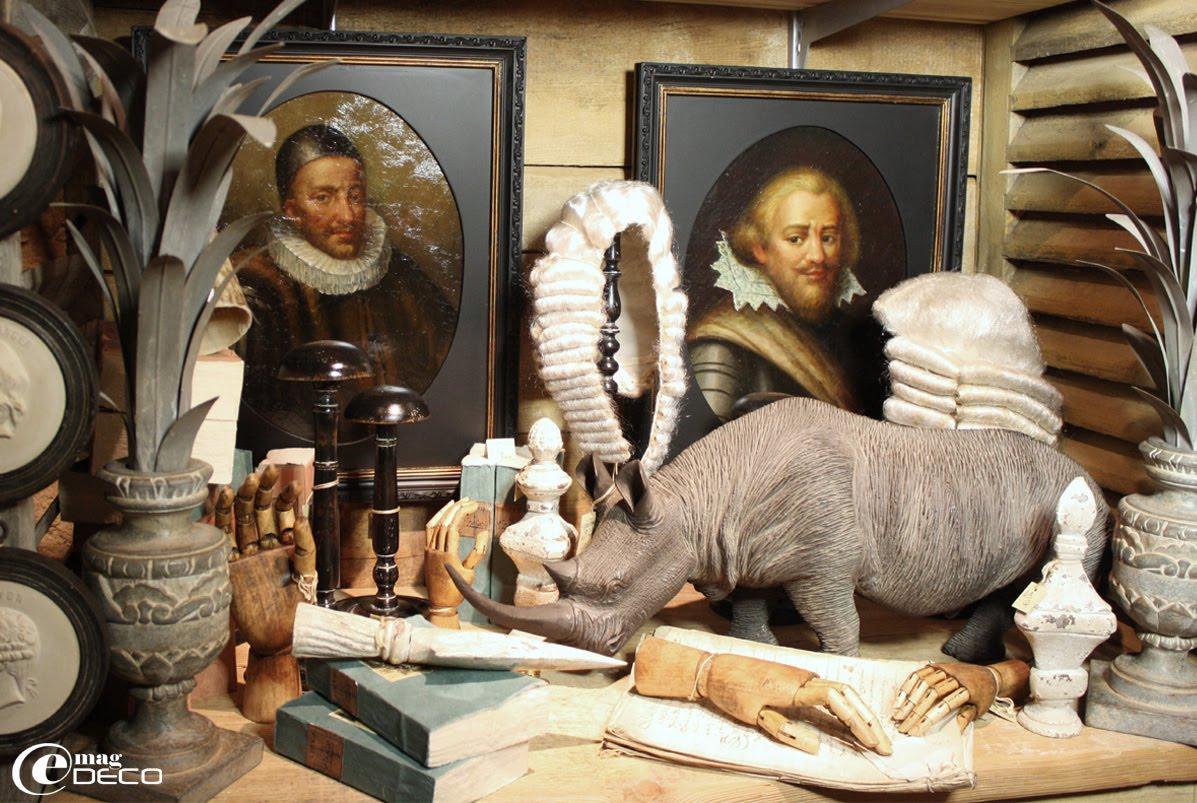 Réedition de vieux portraits et décor de naturalia