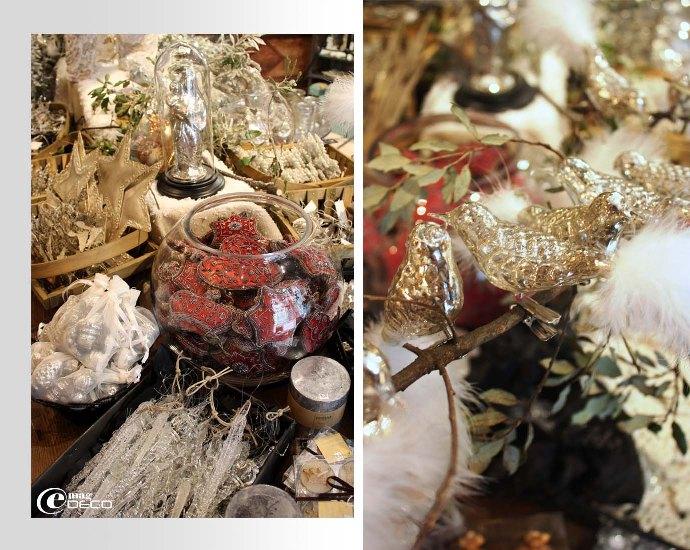 Objets de décoration mercurisés pour Noël