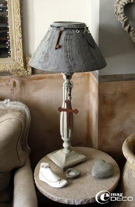 Lampe de chevet avec abat-jour relook