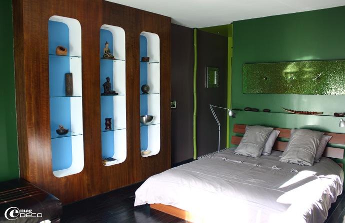Chambre L'Exotica de la maison d'hôtes Yamina Lodge au Cap Ferret