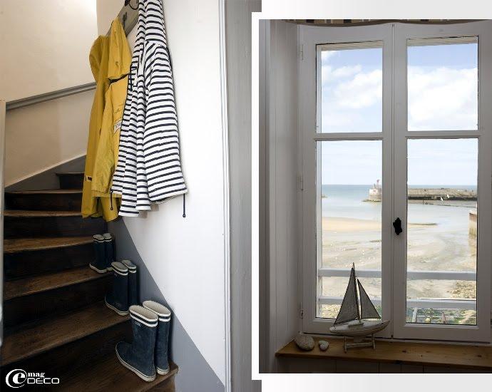 Escalier de bois typique des maisons de pêcheur