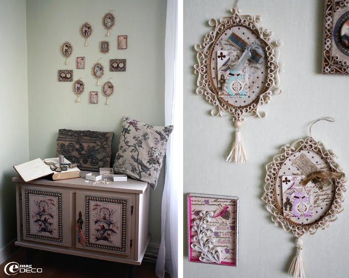 Créations de petits tableaux avec paperoles